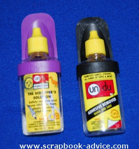 Scrapbook Adhesives removal with Undo