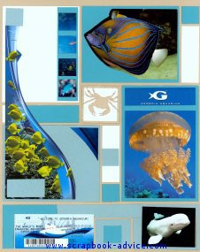 Mosaic Scrapbook Layout Kit from an Aquarium visit