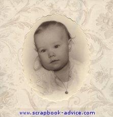 Heritage Baby Scrapbook Layout