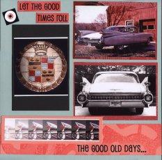 1959 Cadillac Scrapbook Layout