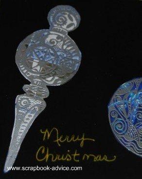 Cloisonne Ornament Circle Card