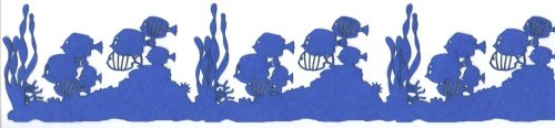 Die Cut Ocean Floor with sections with fish and seawead about 6 inches long