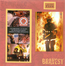 Fire Scrapbook Layout from Sketch