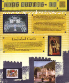 Germany Scrapbook Layout Ludwig Castles