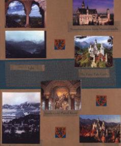 Germamu Scrapbook Layout Neuschwanstein Castle