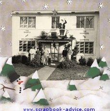 Heritage Christmas Scrapbook Layout