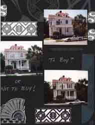 Charleston SC Gates Scrapbook Layout