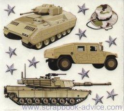 Army Scrapbook Stickers