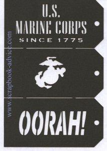 Scrapbook Die Cut Marines Tags