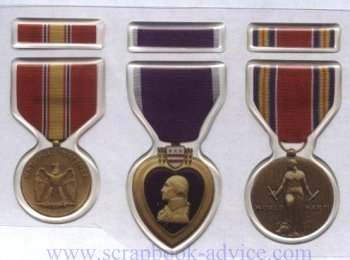 Scrapbook Military Medals