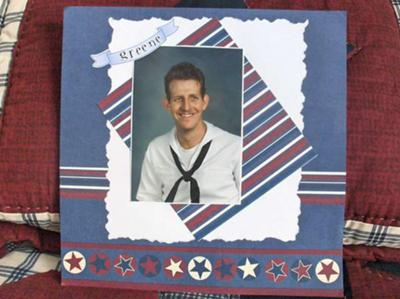 Navy Hero Scrapbook Layout from Readers Gallery