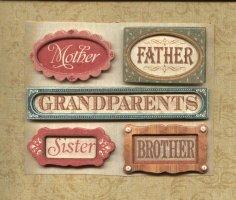 Heritage Scrapbook Stickers