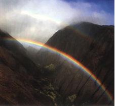 Scrapbook Paper Maui Hawaii Rainbow Double