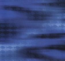 Scrapbook Paper Hawaiian Water in dark and light blue swirls with lots of fish in dark blue