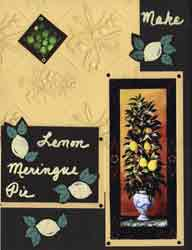 Lemon Merange Pie Recipe Scrapbook Layout