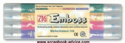 Zig Embossing Markers for Rubber Stamp Embossing