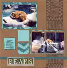 Zoo Africa Scrapbook Layout of Bears