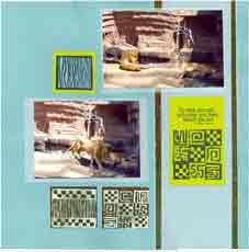Zoo Africa Scrapbook Layout of Lions